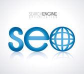 Seo design — Stockvektor