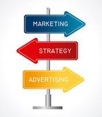 Marketing design — Stock vektor