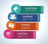 маркетинг дизайн — Cтоковый вектор