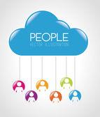 люди дизайн — Cтоковый вектор
