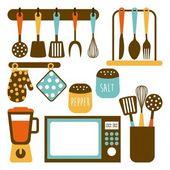 Дизайн кухни — Cтоковый вектор