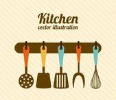 Kitchen design — Stock Vector