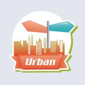 Urban design — Stock Vector