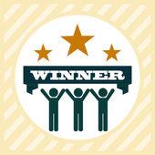 Winner  design — Stock Vector