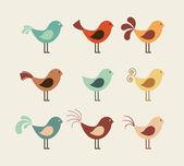 Kuş tasarım — Stok Vektör