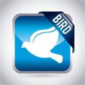 Bird design  — Stock Vector
