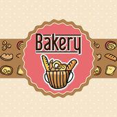 Bakkerij ontwerp — Stockvector