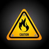 Danger design — Stock Vector
