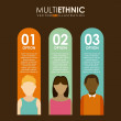 Multiethnic design — Stock Vector