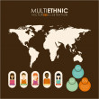 Multiethnic design — Stock Vector #47894357