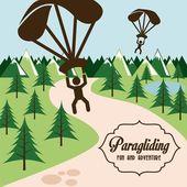 Paragliding design — Stock Vector