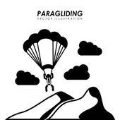 полеты на параплане дизайн — Cтоковый вектор