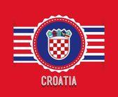 Croatia design — Stock Vector