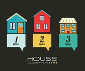 Diseño de la casa — Vector de stock
