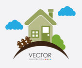 Projekt domu — Wektor stockowy