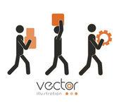 Diseño de trabajo en equipo — Vector de stock