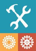 Gears design  — Stockvektor