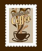 コーヒーのデザイン — ストックベクタ