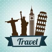 Progettazione viaggi — Vettoriale Stock