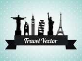 Travel design — Vettoriale Stock