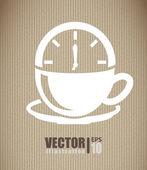 Kaffee design — Stockvektor