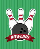 Bowling-design — Stockvektor