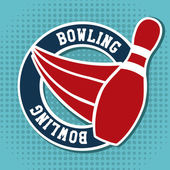 Bowling design — Stockvektor