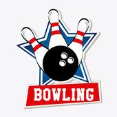 Bowling design — Stockvektor