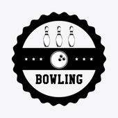 Bowling design — Stock Vector