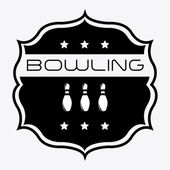 Bowling-design — Stockvektor