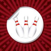 Bowling tasarım — Stok Vektör