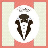 Wedding design — Stock Vector