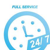Full service — Stock Vector