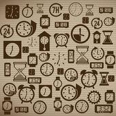 Time design — ストックベクタ
