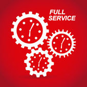 Full service — Vector de stock