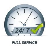 Servicio completo — Vector de stock