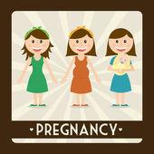 Pregnancy — Stock Vector