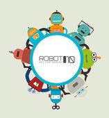 Robot design — Vector de stock