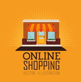Shopping design — Stock Vector