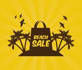 Beach design — Stock Vector