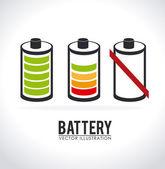 Battery design — Stock Vector