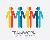 Teamwork design — Stock Vector