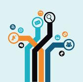 Technology design — Vetor de Stock