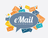 Email design — Stock Vector