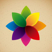 Projeto da flor — Vetorial Stock