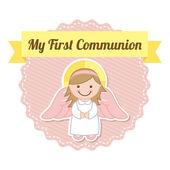 Erstkommunion — Stockvektor