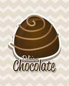Design chocolat — Vecteur