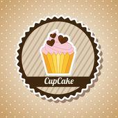 Cake design — Stock Vector