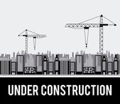 In aanbouw — Stockvector