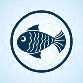 Fish stamp — Stock Vector